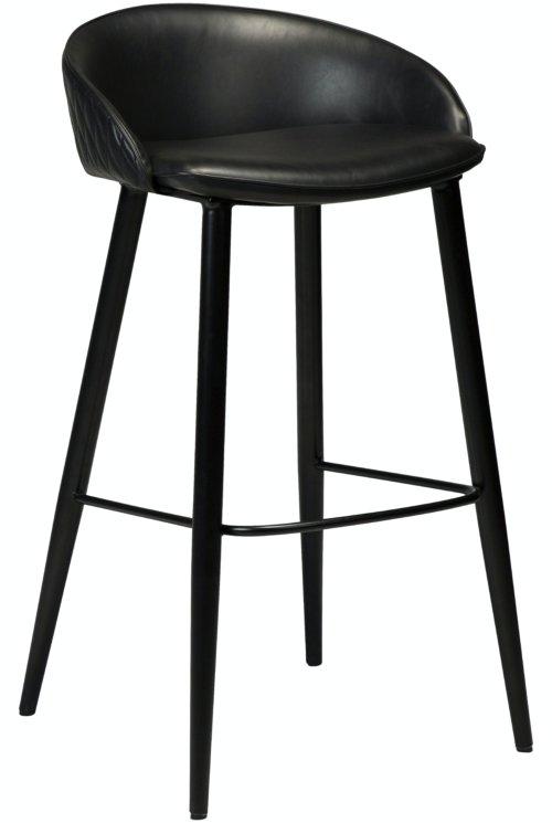På billedet ser du variationen Dual, Barstol, Kunstlæder fra brandet DAN-FORM Denmark i en størrelse H: 91 cm. B: 50 cm. i farven Sort