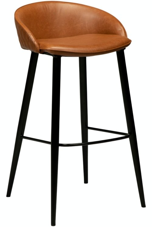 På billedet ser du variationen Dual, Barstol, Kunstlæder fra brandet DAN-FORM Denmark i en størrelse H: 91 cm. B: 50 cm. i farven Brun/Sort