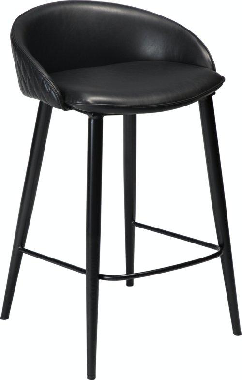 På billedet ser du variationen Dual, Barstol, Kunstlæder fra brandet DAN-FORM Denmark i en størrelse H: 81 cm. B: 49 cm. i farven Sort
