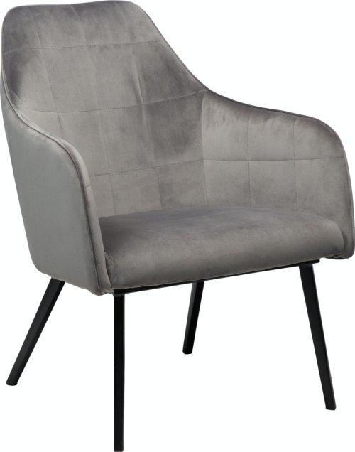 På billedet ser du variationen Embrace, Loungestol, Fløjl fra brandet DAN-FORM Denmark i en størrelse H: 83 cm. B: 68 cm. i farven Grå/Sort