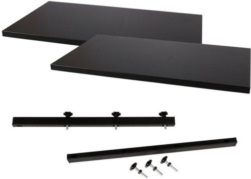 På billedet ser du variationen Hugin, Tillægsplade til Hugin plankebord, MDF fra brandet House of Sander i en størrelse H: 3 cm. B: 95 cm. L: 50 cm. i farven Sort