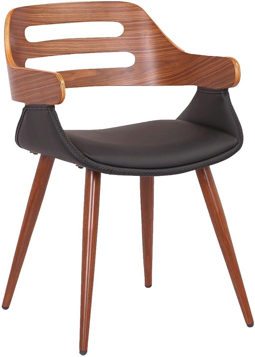 Køb Trud, Spisebordsstol med armlæn, Valnød by House of Sander (H: 77 cm. B: 50 cm. L: 51 cm., Mørk Natur)