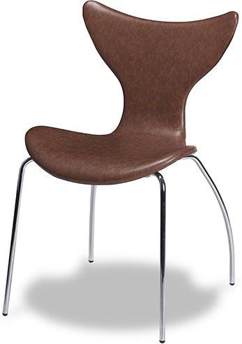 På billedet ser du et stemningsbillede (#1) fra Stanley, Spisebordsstol, læder fra brandet Raymond & Hallmark i en størrelse H: 85 cm. B: 54 cm. i farven Brun