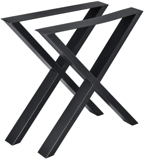 På billedet ser du variationen Oscar, X-stel, Bordben til plankebord fra brandet Nielsen Design i en størrelse H: 71 cm. B: 65 cm. L: 10 cm. i farven Sort