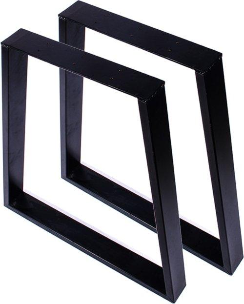 På billedet ser du variationen Oscar, Trapez, Bordben til plankebord fra brandet Nielsen Møbler i farven Sort