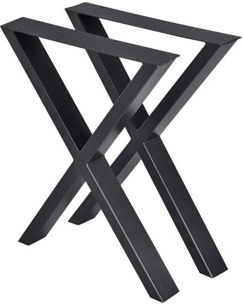 På billedet ser du variationen Oscar, X-stel, Bordben til sofabord fra brandet Nielsen Møbler i farven Sort