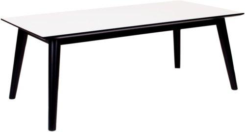 På billedet ser du Vejgaard, Sofabord fra brandet Nordby i en størrelse H: 45 cm. B: 60 cm. L: 120 cm. i farven Hvid/Sort