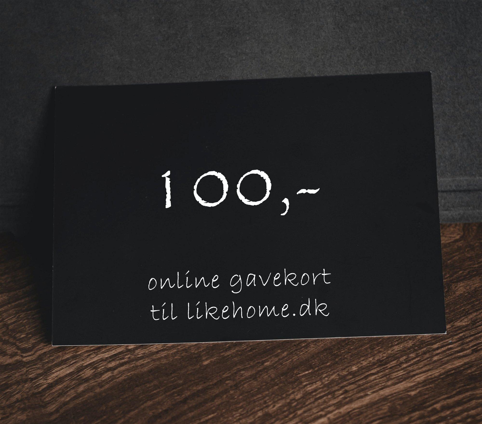 Gavekort til likehome.dk by likehome (100, Hvid)