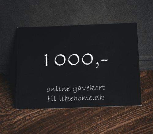 På billedet ser du variationen Gavekort til likehome.dk fra brandet likehome i en størrelse 1000