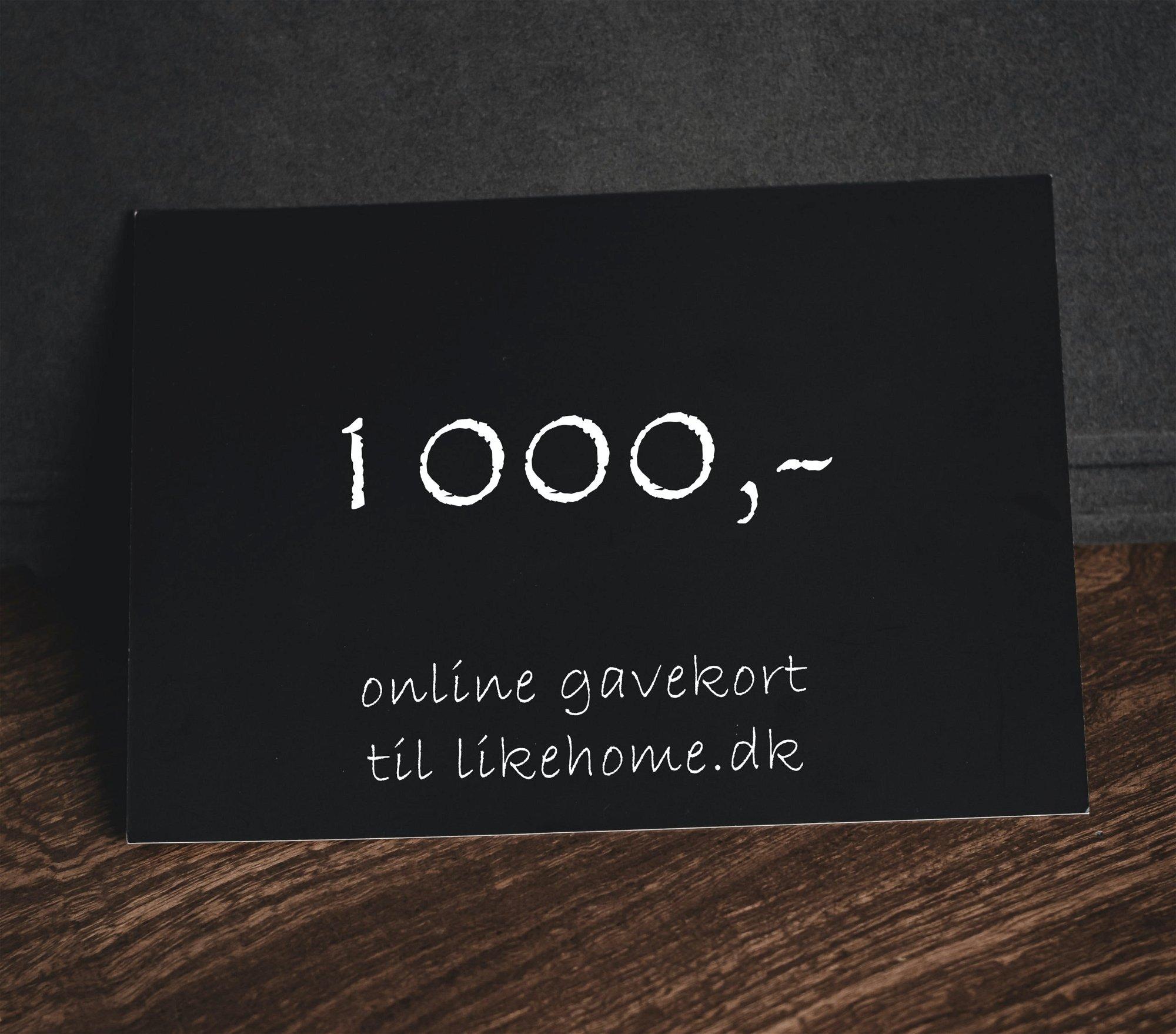 Billede af Gavekort til likehome.dk by likehome (1000, Hvid)