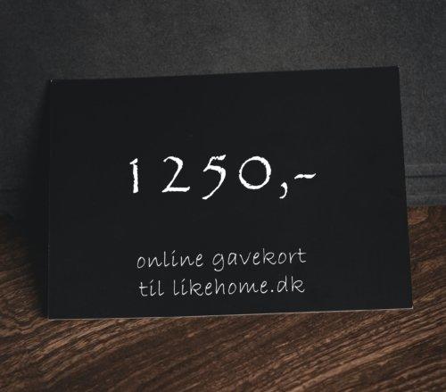 På billedet ser du variationen Gavekort til likehome.dk fra brandet likehome i en størrelse 1250