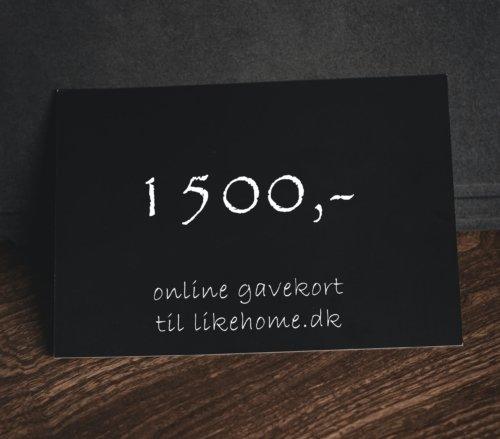 På billedet ser du variationen Gavekort til likehome.dk fra brandet likehome i en størrelse 1500