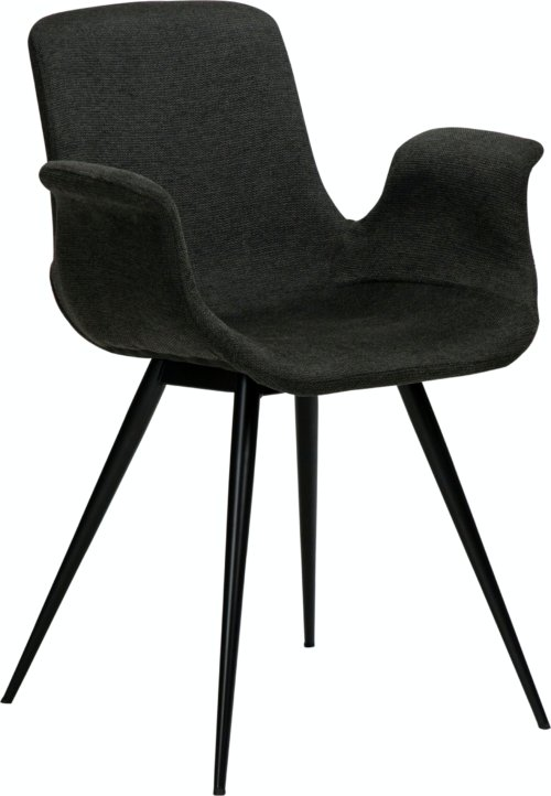På billedet ser du variationen Thicc, Lænestol, Stof fra brandet DAN-FORM Denmark i en størrelse H: 83 cm. B: 60 cm. L: 52 cm. i farven Sort