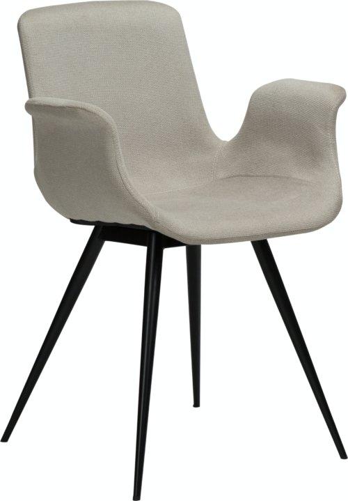 På billedet ser du variationen Thicc, Lænestol, Stof fra brandet DAN-FORM Denmark i en størrelse H: 83 cm. B: 60 cm. L: 52 cm. i farven Hvid/beige