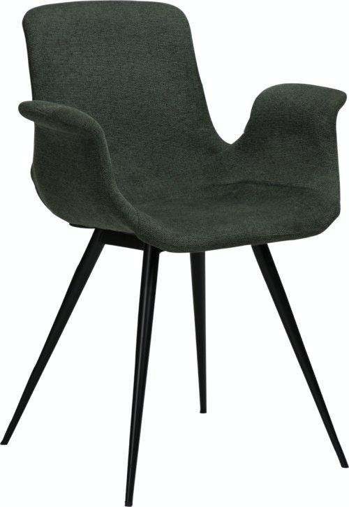 På billedet ser du variationen Thicc, Lænestol, Stof fra brandet DAN-FORM Denmark i en størrelse H: 83 cm. B: 60 cm. L: 52 cm. i farven Grøn