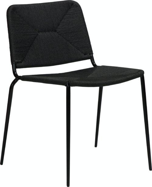 På billedet ser du variationen Stiletto, Spisebordsstol fra brandet DAN-FORM Denmark i en størrelse H: 81 cm. B: 46 cm. L: 56 cm. i farven Sort