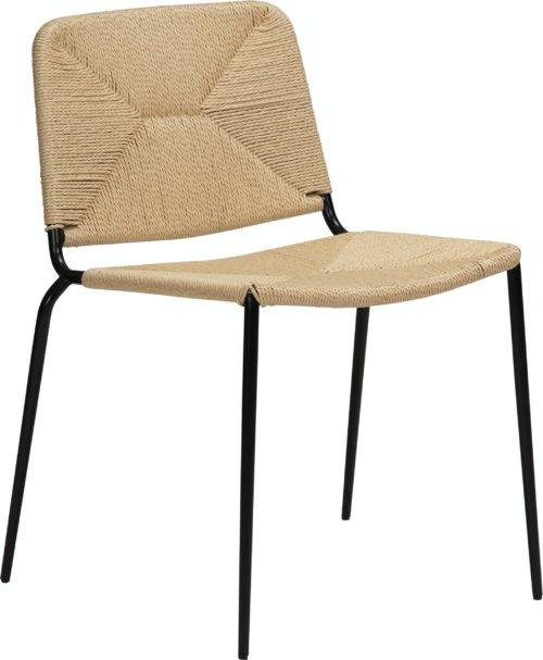 På billedet ser du variationen Stiletto, Spisebordsstol fra brandet DAN-FORM Denmark i en størrelse H: 81 cm. B: 46 cm. L: 56 cm. i farven Hvid/beige