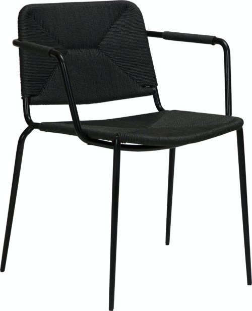 På billedet ser du variationen Stiletto, Lænestol fra brandet DAN-FORM Denmark i en størrelse H: 81 cm. B: 58 cm. L: 56 cm. i farven Sort