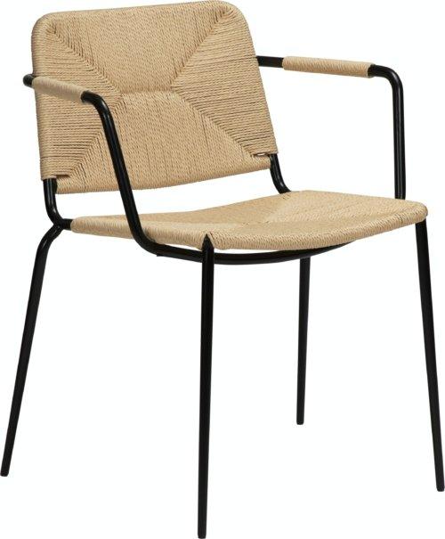 På billedet ser du variationen Stiletto, Lænestol fra brandet DAN-FORM Denmark i en størrelse H: 81 cm. B: 58 cm. L: 56 cm. i farven Hvid/beige