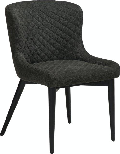 På billedet ser du variationen Vetro, Spisebordsstol, Stof fra brandet DAN-FORM Denmark i en størrelse H: 80 cm. B: 50 cm. L: 61 cm. i farven Sort