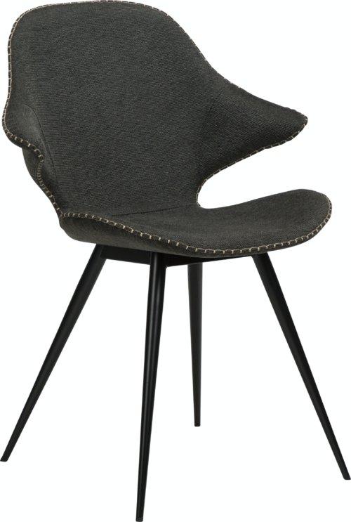 På billedet ser du variationen Karma, Spisebordsstol, Stof fra brandet DAN-FORM Denmark i en størrelse H: 86 cm. B: 62 cm. L: 60 cm. i farven Sort