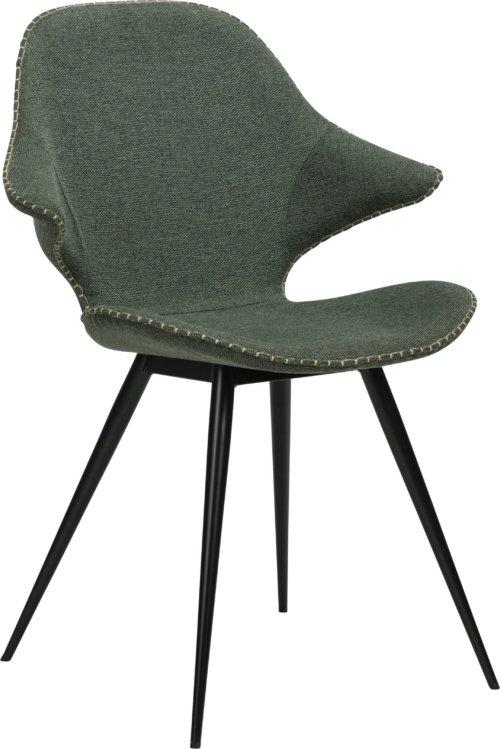 På billedet ser du variationen Karma, Spisebordsstol, Stof fra brandet DAN-FORM Denmark i en størrelse H: 86 cm. B: 62 cm. L: 60 cm. i farven Grøn