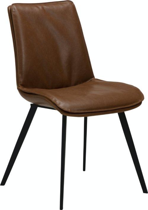 På billedet ser du variationen Fierce, Spisebordsstol, Kunstlæder fra brandet DAN-FORM Denmark i en størrelse H: 85 cm. B: 49 cm. L: 60 cm. i farven Brun