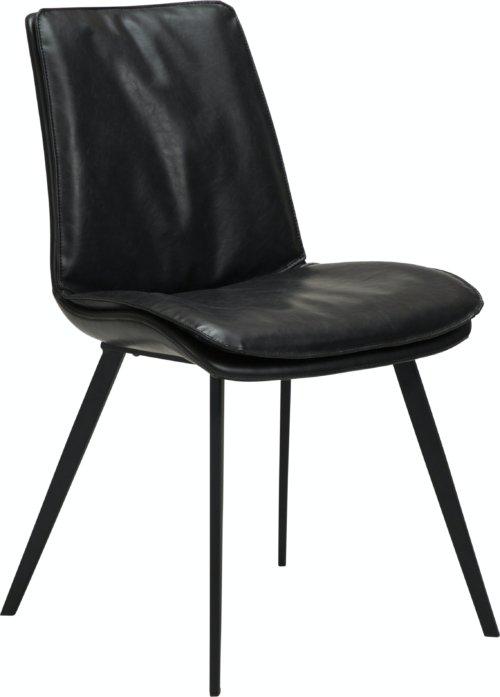 På billedet ser du variationen Fierce, Spisebordsstol, Kunstlæder fra brandet DAN-FORM Denmark i en størrelse H: 85 cm. B: 49 cm. L: 60 cm. i farven Sort