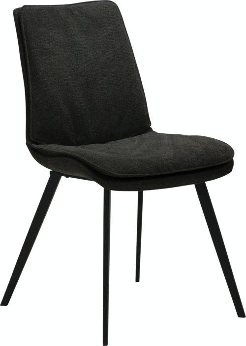 På billedet ser du variationen Fierce, Spisebordsstol, Stof fra brandet DAN-FORM Denmark i en størrelse H: 85 cm. B: 49 cm. L: 60 cm. i farven Sort