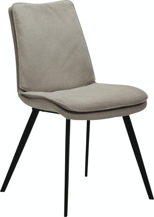 På billedet ser du variationen Fierce, Spisebordsstol, Stof fra brandet DAN-FORM Denmark i en størrelse H: 85 cm. B: 49 cm. L: 60 cm. i farven Hvid/beige