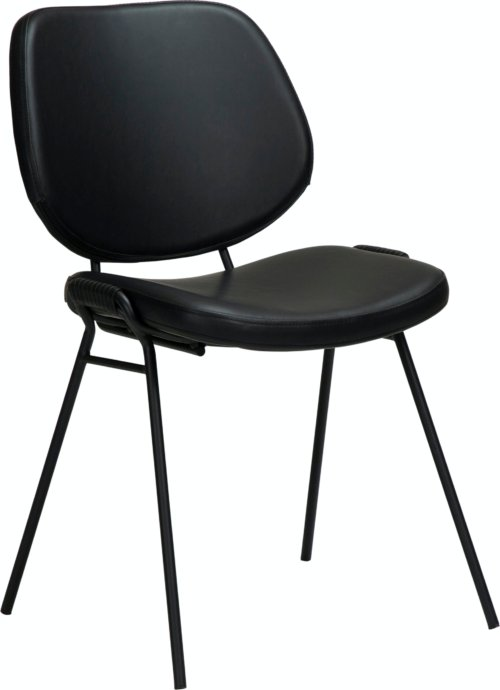 På billedet ser du variationen Yeet, Spisebordsstol, Kunstlæder fra brandet DAN-FORM Denmark i en størrelse H: 80 cm. B: 49 cm. L: 54 cm. i farven Sort
