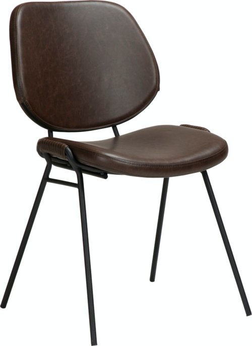 På billedet ser du variationen Yeet, Spisebordsstol, Kunstlæder fra brandet DAN-FORM Denmark i en størrelse H: 80 cm. B: 49 cm. L: 54 cm. i farven Brun