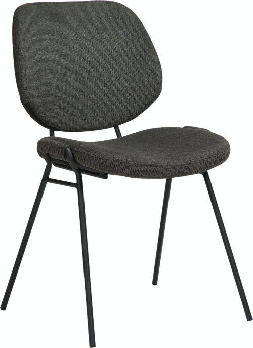På billedet ser du variationen Yeet, Spisebordsstol, Stof fra brandet DAN-FORM Denmark i en størrelse H: 80 cm. B: 49 cm. L: 54 cm. i farven Sort