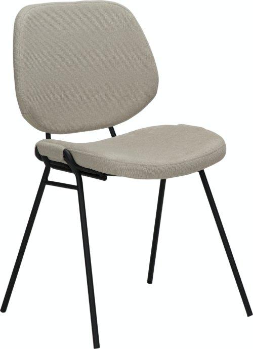 På billedet ser du variationen Yeet, Spisebordsstol, Stof fra brandet DAN-FORM Denmark i en størrelse H: 80 cm. B: 49 cm. L: 54 cm. i farven Hvid/beige