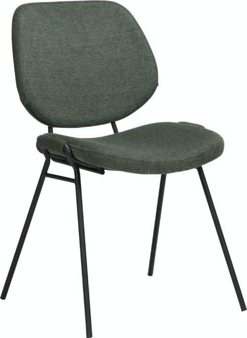 På billedet ser du variationen Yeet, Spisebordsstol, Stof fra brandet DAN-FORM Denmark i en størrelse H: 80 cm. B: 49 cm. L: 54 cm. i farven Grøn