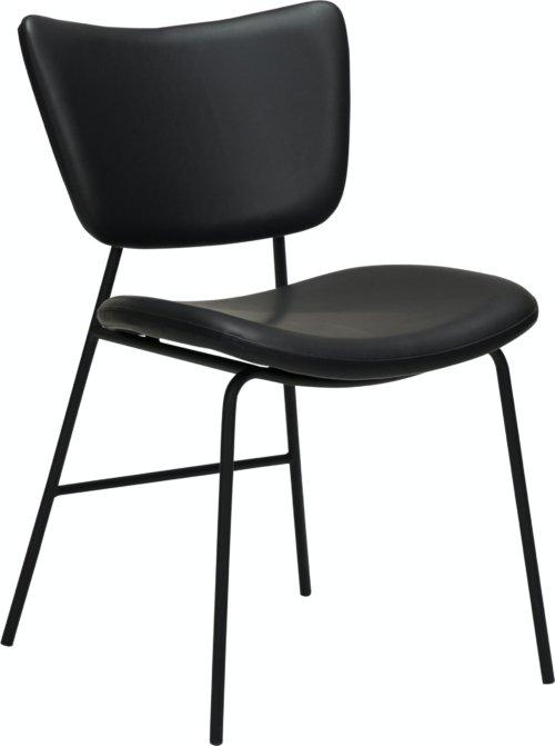 På billedet ser du variationen Thrill, Spisebordsstol, Læder fra brandet DAN-FORM Denmark i en størrelse H: 80 cm. B: 47 cm. L: 53 cm. i farven Sort