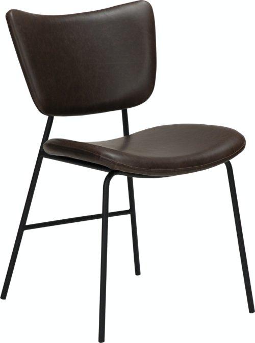 På billedet ser du variationen Thrill, Spisebordsstol, Læder fra brandet DAN-FORM Denmark i en størrelse H: 80 cm. B: 47 cm. L: 53 cm. i farven Brun