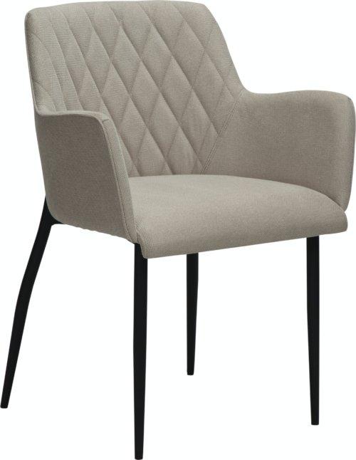 På billedet ser du variationen Rombo, Spisebordsstol, Stof fra brandet DAN-FORM Denmark i en størrelse H: 80 cm. B: 56 cm. L: 51 cm. i farven Hvid/beige