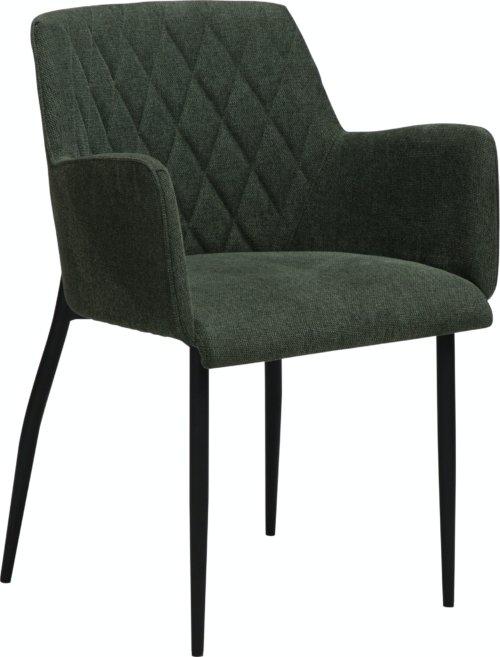 På billedet ser du variationen Rombo, Spisebordsstol, Stof fra brandet DAN-FORM Denmark i en størrelse H: 80 cm. B: 56 cm. L: 51 cm. i farven Grøn