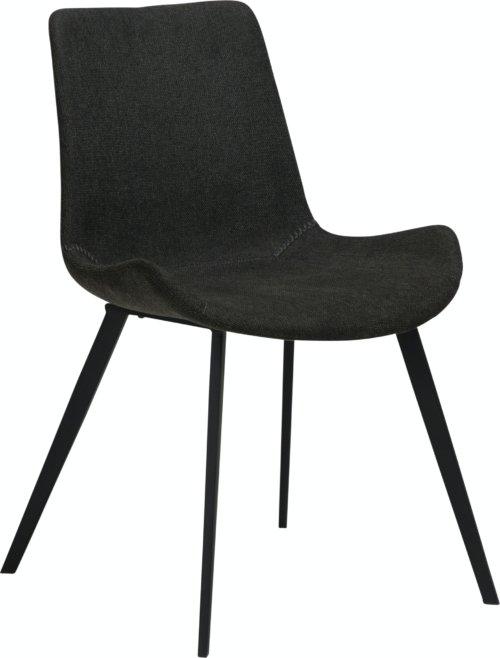 På billedet ser du variationen Hype, Spisebordsstol, Stof fra brandet DAN-FORM Denmark i en størrelse H: 80 cm. B: 52 cm. L: 58 cm. i farven Sort
