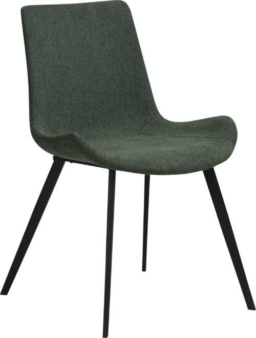 På billedet ser du variationen Hype, Spisebordsstol, Stof fra brandet DAN-FORM Denmark i en størrelse H: 80 cm. B: 52 cm. L: 58 cm. i farven Grøn