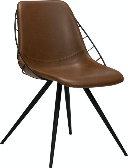 På billedet ser du variationen Sway, Spisebordsstol, Læder fra brandet DAN-FORM Denmark i en størrelse H: 80 cm. B: 51 cm. L: 61 cm. i farven Brun
