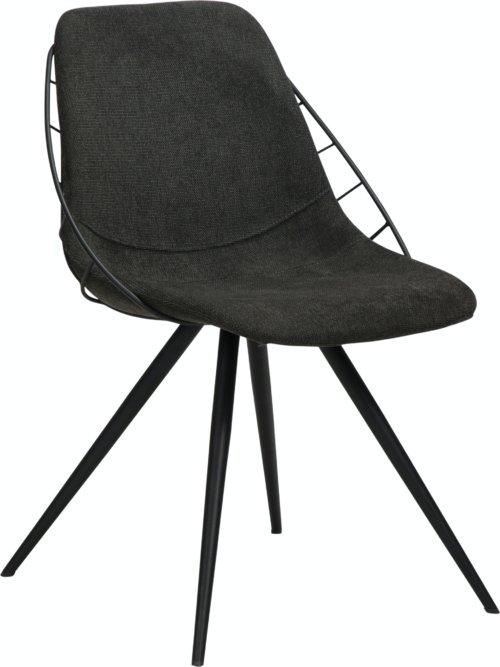 På billedet ser du variationen Sway, Spisebordsstol, Stof fra brandet DAN-FORM Denmark i en størrelse H: 80 cm. B: 51 cm. L: 61 cm. i farven Sort