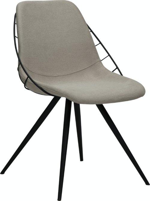 På billedet ser du variationen Sway, Spisebordsstol, Stof fra brandet DAN-FORM Denmark i en størrelse H: 80 cm. B: 51 cm. L: 61 cm. i farven Hvid/beige
