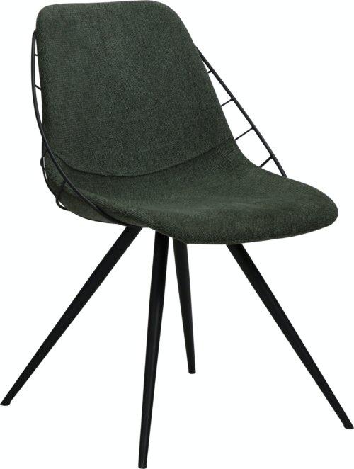 På billedet ser du variationen Sway, Spisebordsstol, Stof fra brandet DAN-FORM Denmark i en størrelse H: 80 cm. B: 51 cm. L: 61 cm. i farven Grøn