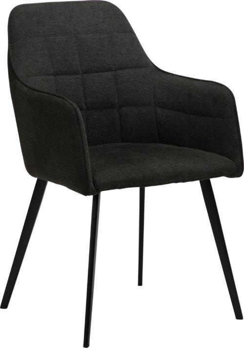 På billedet ser du variationen Embrace, Spisebordsstol med armlæn, Stof fra brandet DAN-FORM Denmark i en størrelse H: 84 cm. B: 55 cm. L: 55 cm. i farven Sort