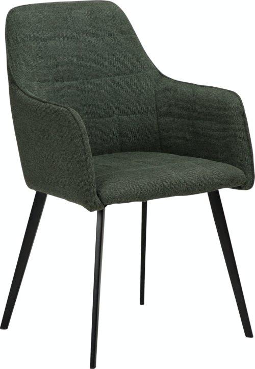 På billedet ser du variationen Embrace, Spisebordsstol med armlæn, Stof fra brandet DAN-FORM Denmark i en størrelse H: 84 cm. B: 55 cm. L: 55 cm. i farven Grøn