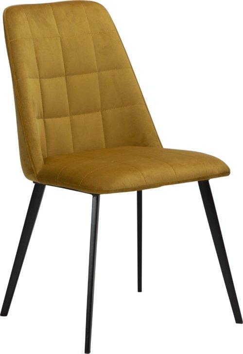 På billedet ser du variationen Embrace, Spisebordsstol, Fløjl fra brandet DAN-FORM Denmark i en størrelse H: 84 cm. B: 48 cm. L: 55 cm. i farven Gul/Okker