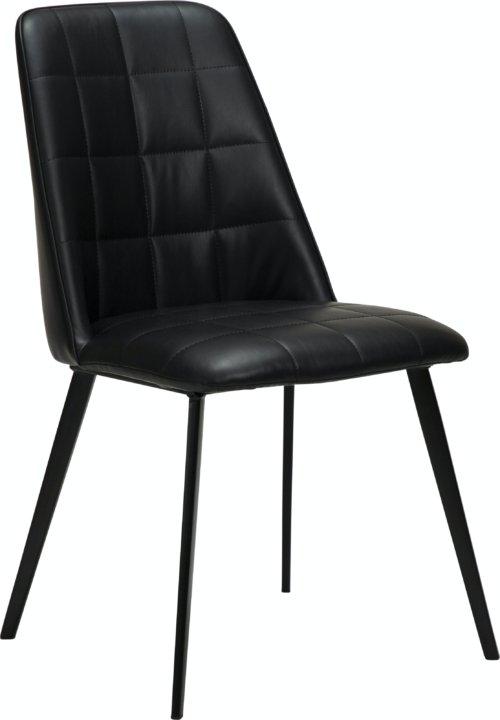 På billedet ser du variationen Embrace, Spisebordsstol, Læder fra brandet DAN-FORM Denmark i en størrelse H: 84 cm. B: 48 cm. L: 55 cm. i farven Sort