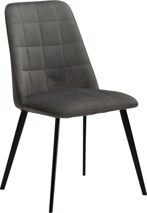 På billedet ser du variationen Embrace, Spisebordsstol, Fløjl fra brandet DAN-FORM Denmark i en størrelse H: 84 cm. B: 48 cm. L: 55 cm. i farven Grå
